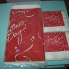 BRAND NEW SET VALENTINE PLASTIC TABLECOVER W/BEVERAGE NAPKINS