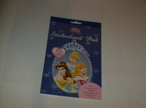 BRAND NEW  DISNEY PRINCESS STICKERLAND PAD W /414 STICKERS