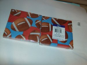 BRAND NEW 2 PACKAGES OF 16  3 PLY ALL STAR FOOTBALL NAPKINS