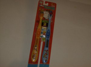 BRAND NEW TWO PACK FUN PEANUTS SOFT TOOTHBRUSHES