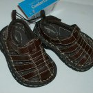 BRAND NEW CUTE FADED GLORY BOYS BRN INFANT CAGE SANDALS SIZE 2