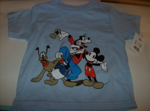 BRAND NEW DISNEY BLUE SHORTSLEEVE BOYS 12MONMICKEY MOUSE & FRIENDS T SHIRT