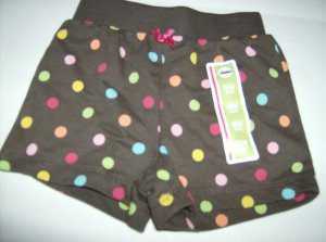 BRAND NEW GIRLS SHORTS SIZE 6M SHORT WITH POLKA DOTS