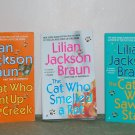 "Book Set - Lilian Jackson Braun - ""The Cat Who..... ""(lot of 3)"
