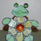 Frog - Stained Glass Frog Votive