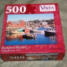 Puzzle - 500 Piece Rockport Harbor Massachusetts