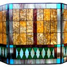 Handcrafted Tiffany Style Stained Glass Fireplace Screen