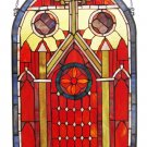 Handcrafted Mission Design Stained Glass Panel