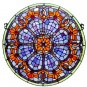 Handcrafted Victorian Round Stained Glass Panel