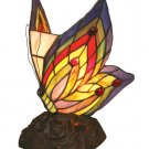 Handcrafted Butterfly Tiffany Style Accent/Night Lamp
