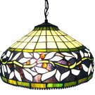 Handcrafted Ivy Tiffany Style Hanging Lamp