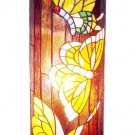 Handcrafted Butterfly Design Tiffany Style Pedestal Lamp