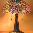 Handcrafted Wisteria Tiffany Style Table Lamp
