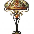 Handcrafted Victorian Tiffany Style Helmet Table Lamp