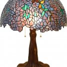 Handcrafted Wisteria Shine Tiffany Style Table Lamp