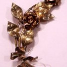 Vintage Beautiful Krementz Flower Brooch Signed Diana