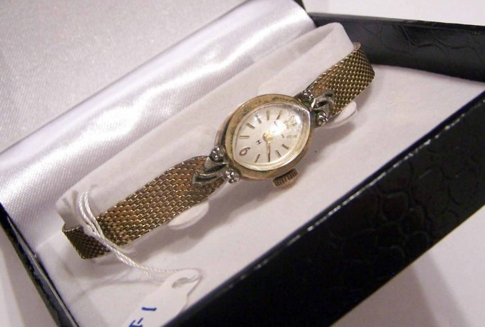 Ladies Hamilton Ladies Dress Watch W/ 4 Real Diamonds