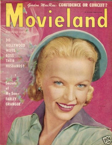 Movieland Magazine March 1951 June Haver