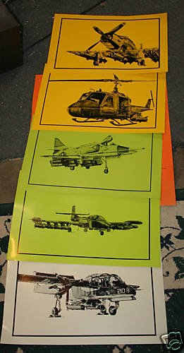 Aircraft Prints- Honeywell 5 Large Prints - Rare - FAE