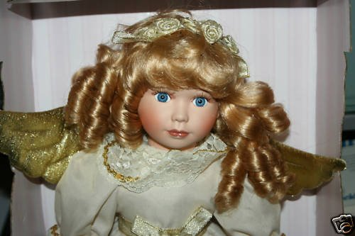 """17"""" COLLECTIBLE MEMORIES PORCELAIN ANGEL DOLL Angelica"""