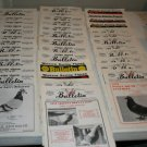 76 78 79 80 Racing Pigeon Bulletin Magazines 37 Issues