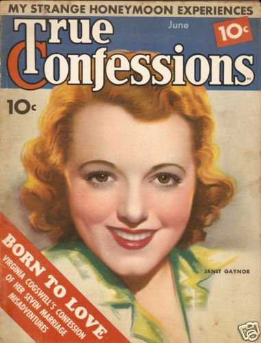 True Story Magazine June 1936 Janet Gaynor Good Cond