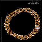 Antique Womens 7 1/4 or 7.25 Yellow 14K Gold Woven Bracelet