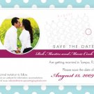 Polk-a-dot Pattern Post Card - Customized Printable Save The Date
