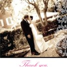 White Damask with Your Own Photo - Customized Printable Thank You Card