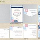 DIY Custom Wedding Invitation Suite - Modern Dandelion Flower Design Customized Printable PDF