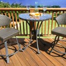 Tortuga Outdoor Highlites Balcony Bistro Set Perfect For Apt or Condo Balcony HB-001