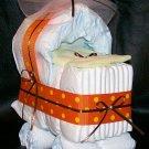 Bassinet Diaper Cake Neutral Baby Boy or Girl Shower Centerpiece