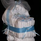 "Bassinet Diaper Cake Baby Boy ""A Star Is Born"" Baby Shower Centerpiece"