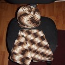 Shades of Brown Scarf & Hat Set