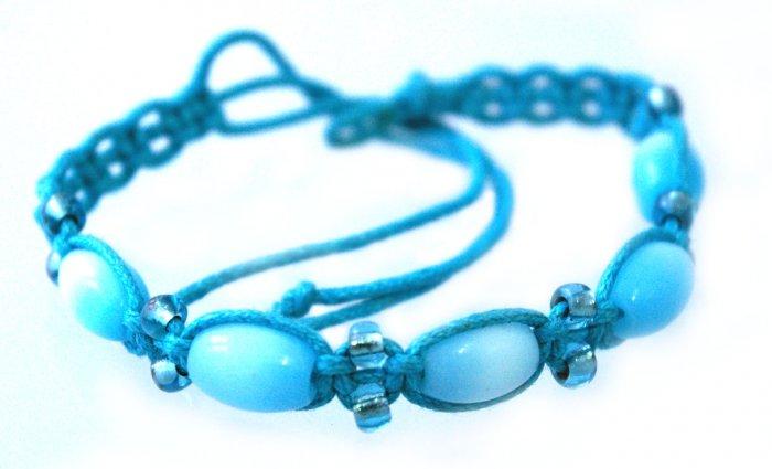Handmade Friendship Wrist Band (Aqua Blue)