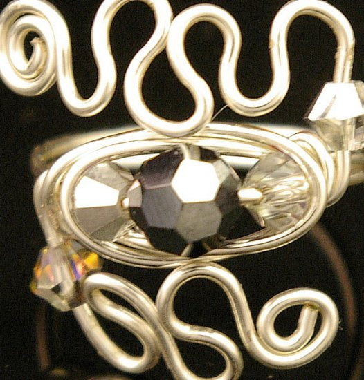 Handmade Wire free form Ring (Window of the Soul)