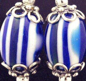 Handmade Lamp work Earrings with Bali Beads (Fallz)