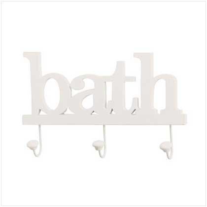 #36667 Bath Clothes Hook Wall Plaque