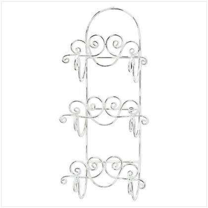 #33588 Distressed White Towel Holder