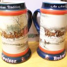 Budweiser Holiday Stein-An American Tradition 1990