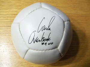 Autographed Carla Overbeck Mini Soccer Ball