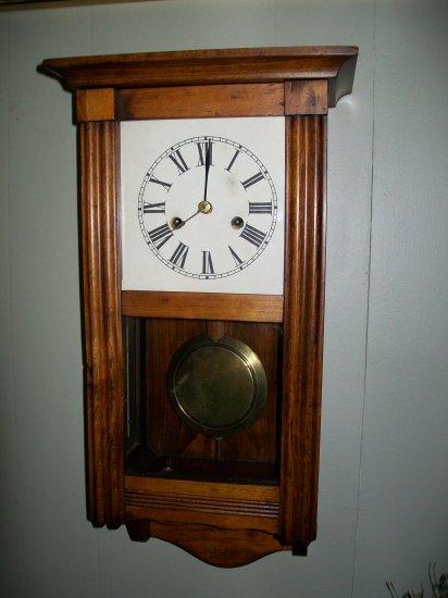 Antique Gustav Becker Mini Vienna Regulator Wall Clock