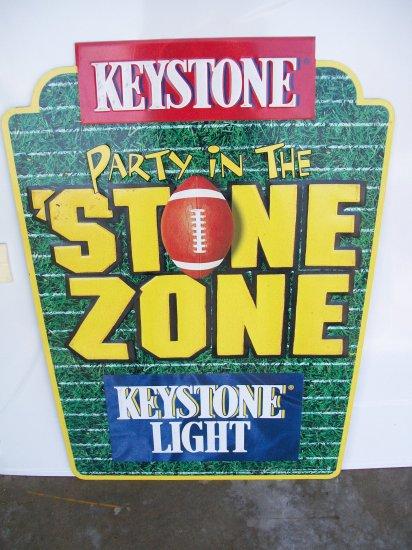 Keystone Light Metal Advertising Sign