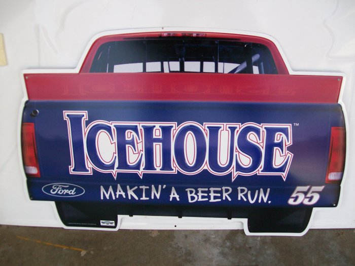 Icehouse Advertising Metal Sign