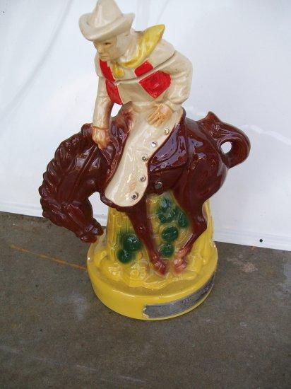 Ezra Brooks Broncing Cowboy Decanter