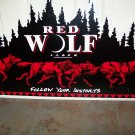 Anheuser-Busch Red Wolf Advertising Metal Sign