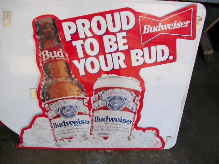 Anheuser-Busch  Budweiser Advertising Metal Sign