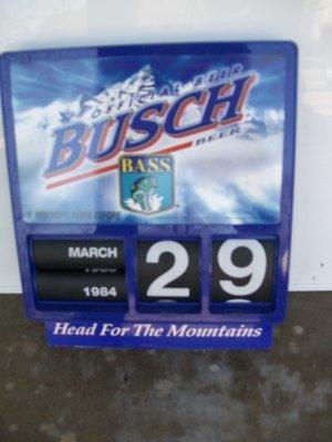 Busch Advertising Calendar