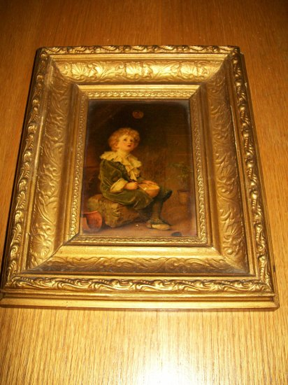 Antique English Print in Gold Gilt Frame