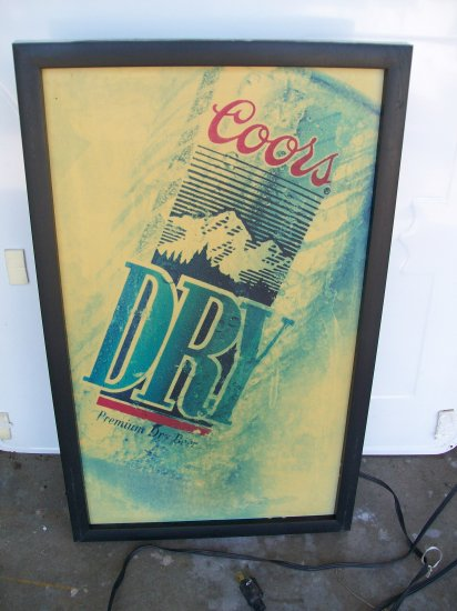Coors Dry Advertising Lighted Sign